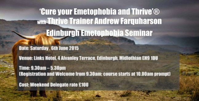 Edinburgh Emetophobia Seminar, 6th June